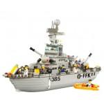 Конструктор Sluban 0126 Военный корабль,  577 деталей
