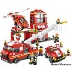 """Конструктор SLUBAN 0227 """"Пожарные спасатели"""", 727 деталей"""