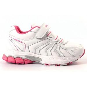 Кроссовки BONA 92892A бело-розовые