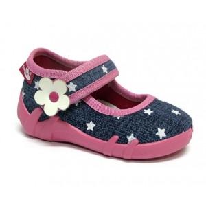 Renbut 13-139 Jeans gwiazdki - Джинсовые звезды, тапочки для девочек